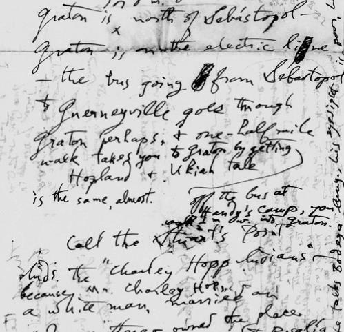 John Peabody Harrington's notes on Coast Miwok, 1939