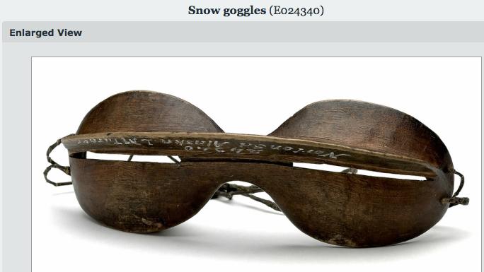 3 Snow googles from Alaska