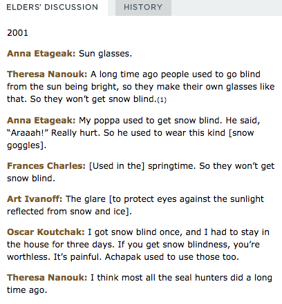 4 Elders' discussion of snow goggles