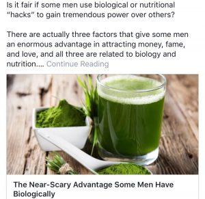 money fame love for men green health drink