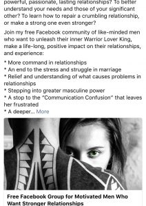 Be a lover warrior king PUA advertisements