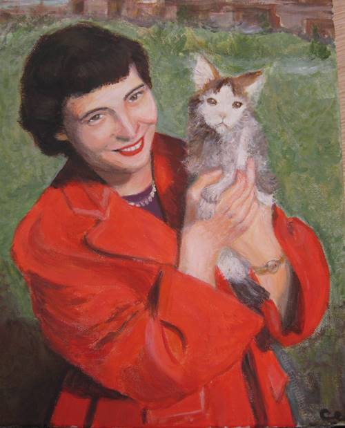 Acrylics painting of Charlene Ward