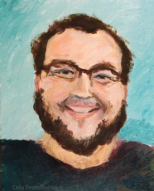 acrylics portrait in Maine
