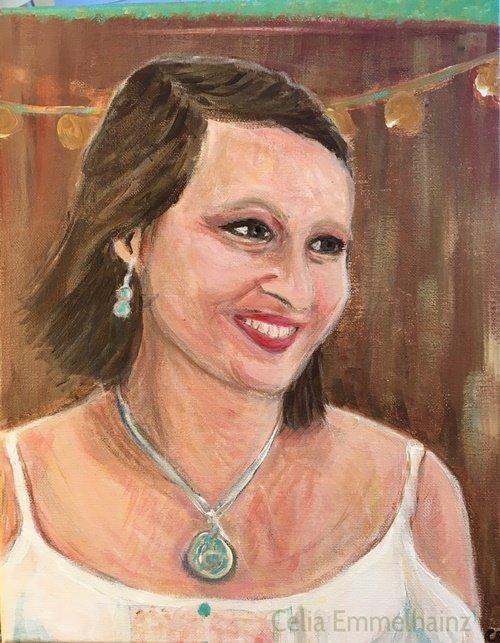 acrylics portrait made in Berkeley