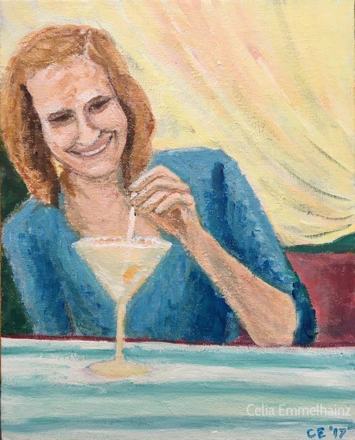 acrylics portrait of Kimberly Powers