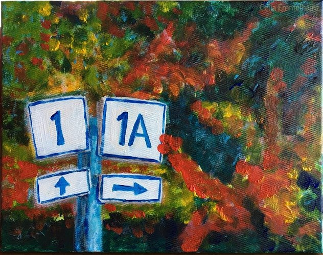 Maine 1-1A in Rockland, Maine acrylics painting