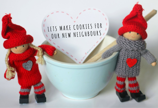 random acts of Kindness elves make cookies for their neighbors