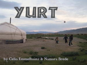 Cover image of YURT picture book about how yurts are made
